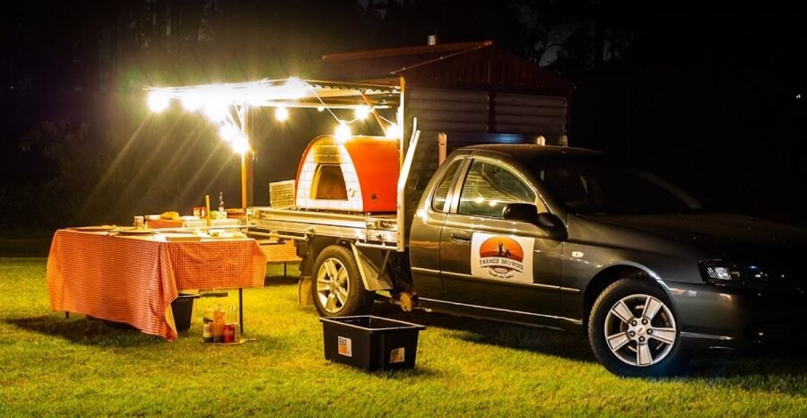 One of our smaller mobile food trucks. It fits on the back of our ute's trailer letting us cater for smaller events and get into tight spots.